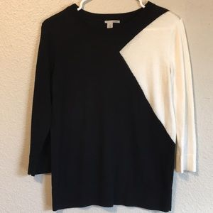Halogen Black and White Sweater